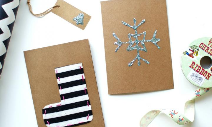 9 easy handmade Christmas cards