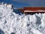 AMERICA: Snow is piled up high in front of Home Depot in the South Bay shopping center after a two day winter storm in Boston, Massachusetts. Picture: AFP