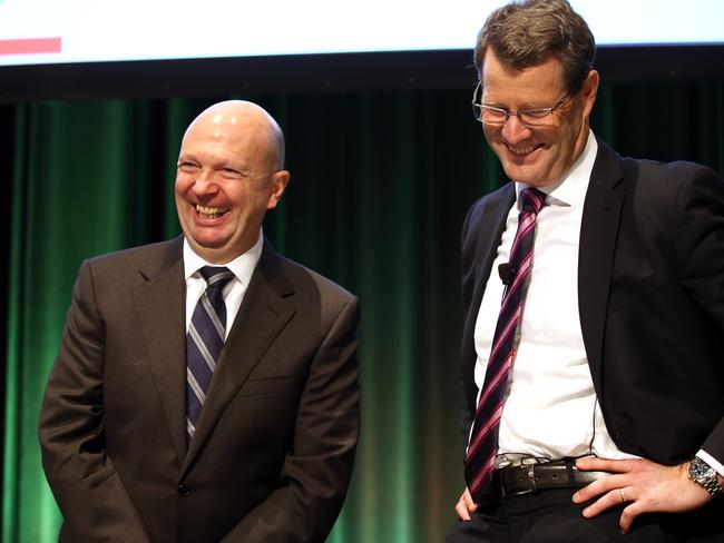 Woolworths Chairman Gordon Cairns and Grant O'Brien.
