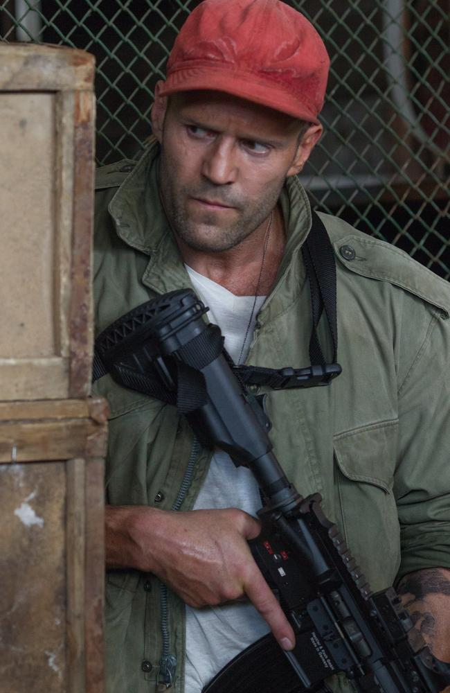 Jason Statham in a scene from  <i>The Expendables 3</i>.