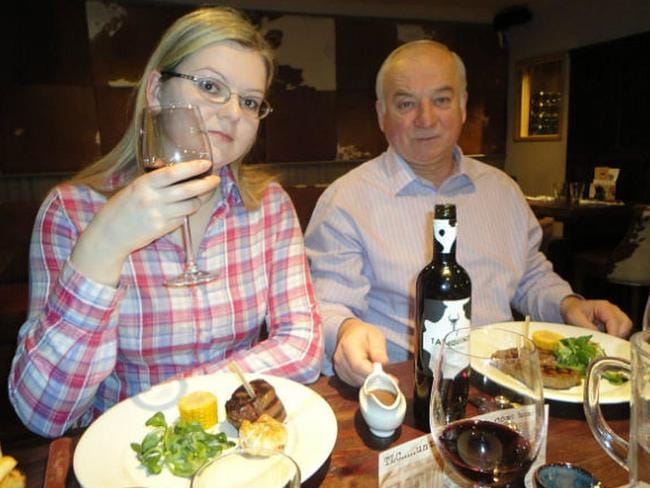 Ex-Russian spy Sergei Skripal, 66, and his daughter Yulia, 33, remain in a critical condition after being poisoned. Picture: supplied