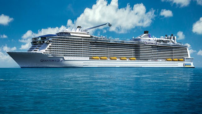 Thisimage provided by the Royal Caribbean International cruise line shows its forthcoming ship, Quantum of the Seas. Picture: AP