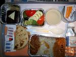 "<p>An Air India meal was ""hot and tasty"" and ""decent"". ""The roti was wonderful, the rajma-chawal-murg curry (beans-rice-chicken) was out of this world and to die for and the salad was fresh."" / Flickr user vm2827</p>"