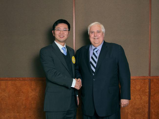 Dio Wang with Clive Palmer.