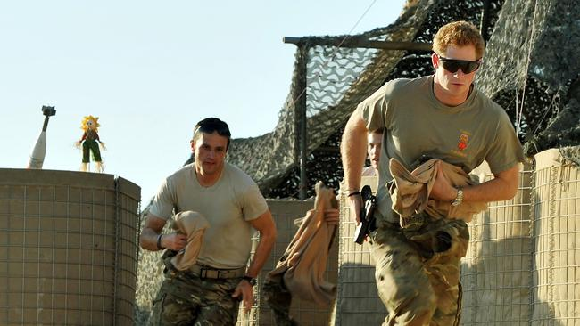 Prince Harry in Afghanistan's Helmand Province in 2012.