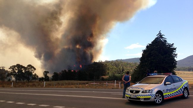 Picture of a fire taken near Copping. Picture: David Killick
