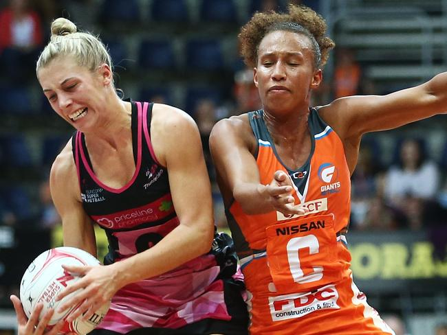Serena Guthrie of the Giants (orange) has made a big impact for the Giants this year.