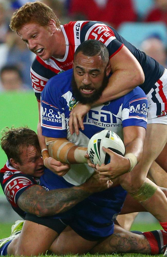 Jake Friend and Dylan Napa have the tough task of trying to stop Sam Kasiano.