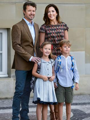 Frederik with his Tasmanian born wife, Mary, and their two youngest children. Picture: Liselotte Sabroe