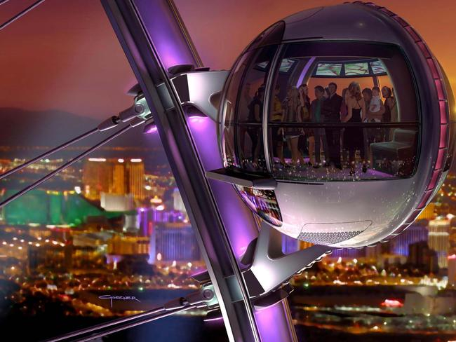Fun ride ... the High Roller is the tallest observation wheel in the world. Picture: Las Vegas Convention and Visitors Authority