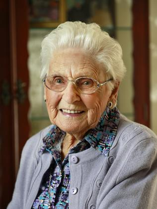 Centenarians like Wantirna resident Mona Bailey were rare in the 1960s. Picture: Valeriu Campan
