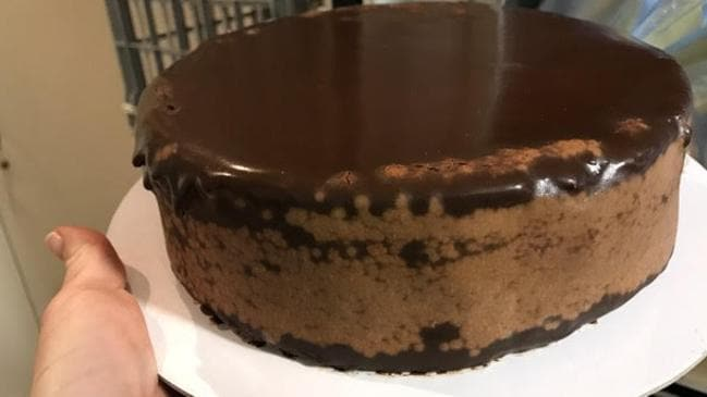 A poor quality cake ex-franchisee Robert Verni said was supplied by Michel's Patisserie.