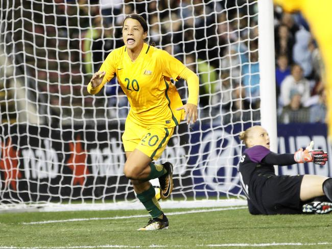 Sam Kerr has been in devastating form at domestic and international level. Pic: AAP