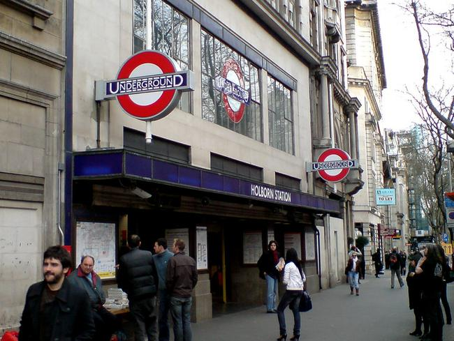 Holborn Station, which is close to the British Museum and Bloomsbury Square in central London, is one of the busiest stations on the Tube network. Picture: Oliver Mallich