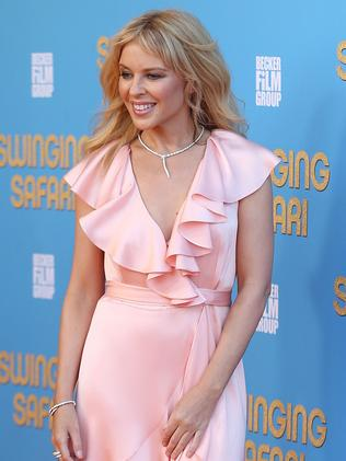 Kylie Minogue at the Swinging Safari premiere. Pic: Getty