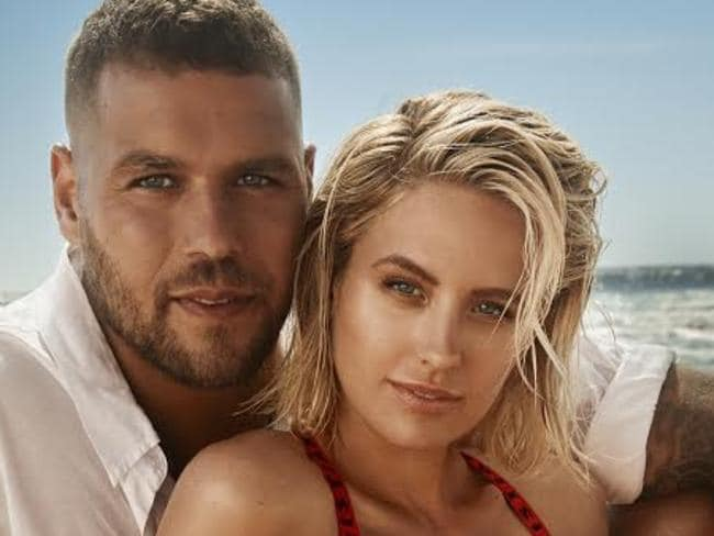 Jesinta and Buddy Franklin: 'You have to face the storm together'. Picture: Georges Antoni.