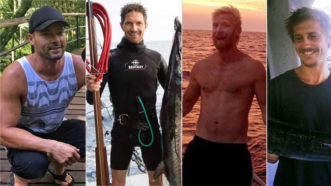 Four men missing from a Cairns fishing trawler that sunk of the Central Queensland coast: Eli Tonks, Ben Leahy, Adam Bidner and Adam Hoffman.