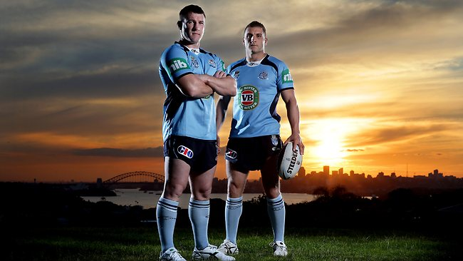 Paul Gallen inspired the Blues team with a rousing speech during the jersey presentation.