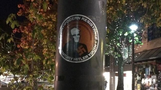 Last month, racist posters were spotted around Canberra's CBD.