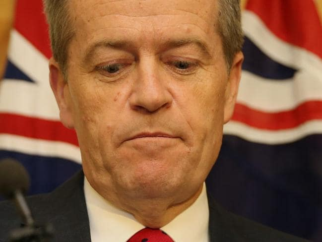 Labor leader Bill Shorten and his party are falling behind. Picture: Gary Ramage