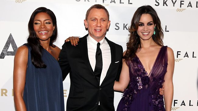Naomi Harris, Daniel Craig and Berenice Marlohe / Pic: Adam Taylor