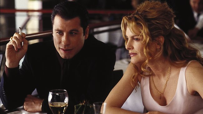 John Travolta and Rene Russo in Get Shorty. Picture: Supplied