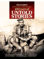 The cover of The Courier-Mail's special 24-page liftout - 100 Years of Untold Stories: From Anzac to Afghanistan. Read the stories at bit.ly/anzac100