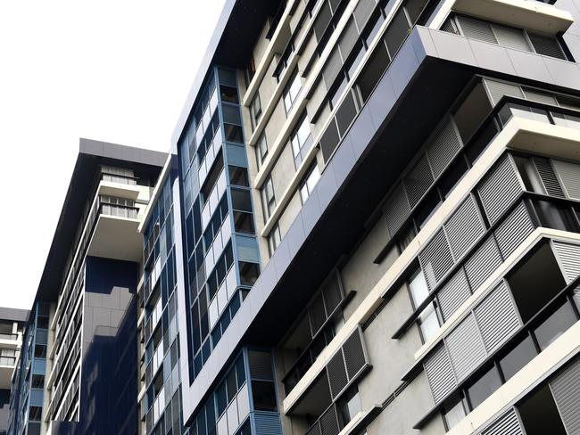 Those living in apartment buildings have little access to solar power at the moment. Picture: Paul Miller/AAP