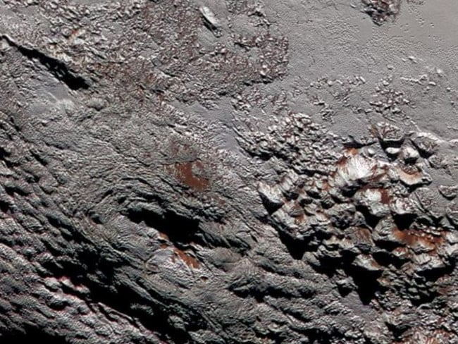 Potential cryovolcanoes seen on Pluto by the NASA New horizons team. Picture: NASA