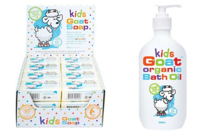 KIDS ORGANIC GOAT RANGE (CHEMIST WAREHOUSE / MY CHEMIST) WON IN THE BABY - SKIN CARE CATEGORY: This range has everything from body wash to bath oil and soap, and is suitable for babies from 0 months. Prices in the range vary from $2.99 to $47.99
