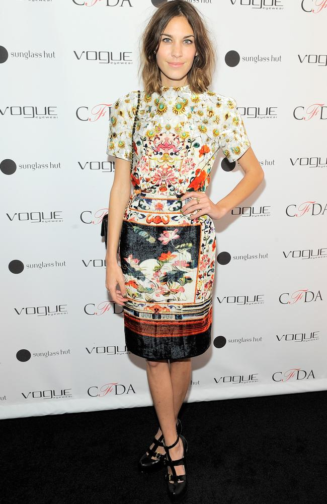 Alexa Chung at the Vogue Eyewear launch in New York City. Photo by Jemal Countess