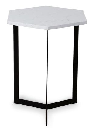 The marble side table ($39.99).