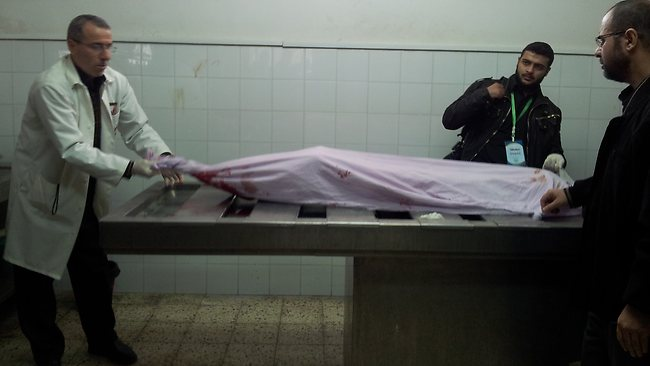 Body of 13-year-old Tasneem killed in #Israel strike on in #Gaza Beach Camp Source: AFP / Twitter.com