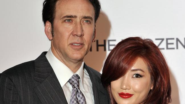 Tied the knot quickly ... Nicolas Cage and Alice Kim. Photo by Gareth Cattermole/Getty Images.
