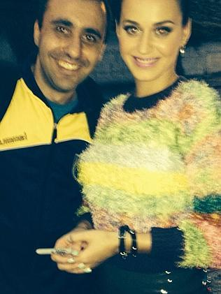 Lakmas with Katy Perry from his Facebook page.