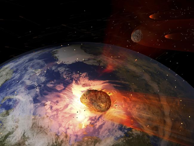 There are large asteroids which come close to Earth's orbit, NASA says, but nothing on the scale of a planet.