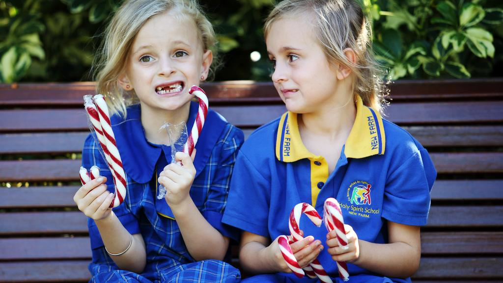 Students at Bellerive Primary School on Hobart's Eastern Shore are no longer allowed to include candy canes in Christmas cards. Picture: TARA CROSER
