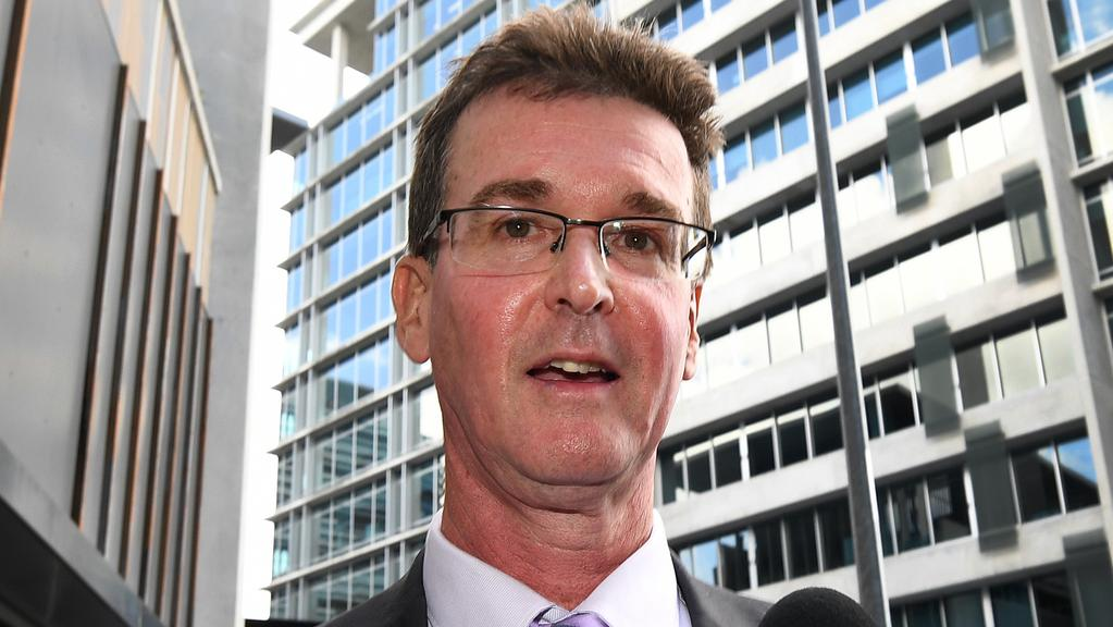 Tim Connolly leaves a hearing at the Crime and Corruption Commission in Brisbane on Thursday. Picture: AAP Image/Dan Peled