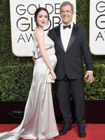 Mel Gibson and Rosalind Ross attend the 74th Annual Golden Globe Awards at The Beverly Hilton Hotel on January 8, 2017 in Beverly Hills, California. Picture: Getty