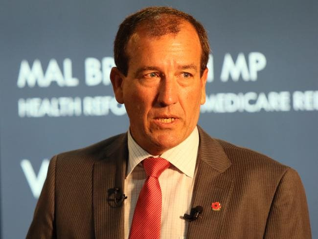 In face-to-face meeting with PM ... MP Mal Brough. Picture: Glenn Barnes