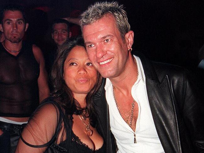Jimmy Barnes with wife Jane back in 1999. Picture: News Corp Australia