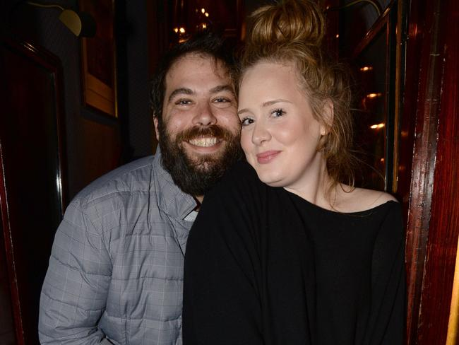 Couple ... Adele and partner Simon Konecki pictured in 2013. Picture: Splash News Australia