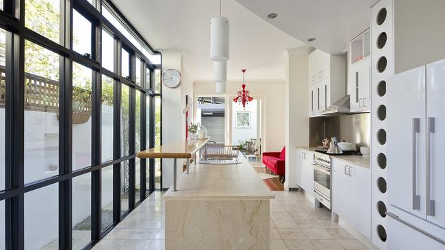 Cooking is made easy in this contemporary kitchen.