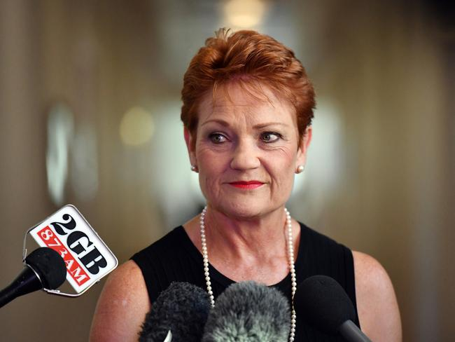 One Nation leader Pauline Hanson says she won't let past conflicts with the Liberal Party affect working with them now. Picture: AAP