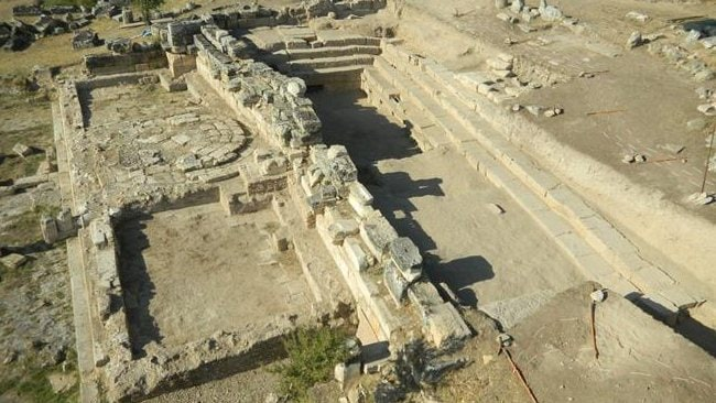 The excavated site of the Plutonium at the ancient city of Hierapolis, Turkey. Picture: Francesco D'Andria.