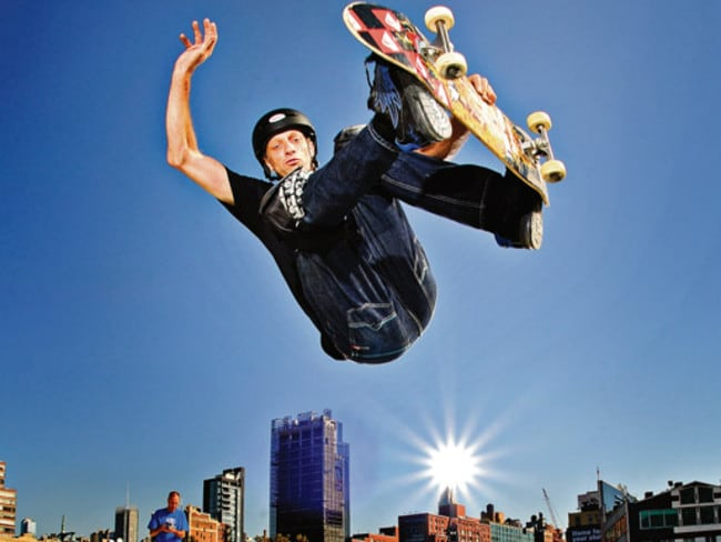 Tony Hawk has become a skateboarding icon.