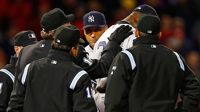 Pineda is given his marching orders from Fenway Park.