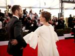 Benjamin Millepied and Natalie Portman attend The 23rd Annual Screen Actors Guild Awards at The Shrine Auditorium on January 29, 2017 in Los Angeles, California. Picture: Getty