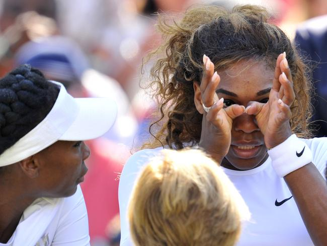 US legend Serena Williams had a health scare at Wimbledon and has some thinking to do over her future.