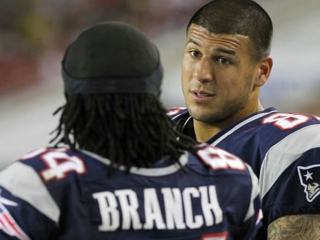 Former NFL star Aaron Hernandez died an innocent man. Picture: Supplied